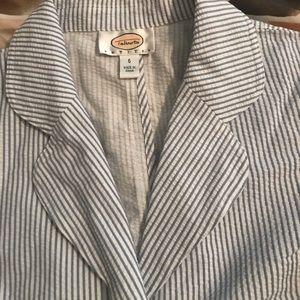 Talbots Seersucker Jacket & Skirt Set, 100% Cotton